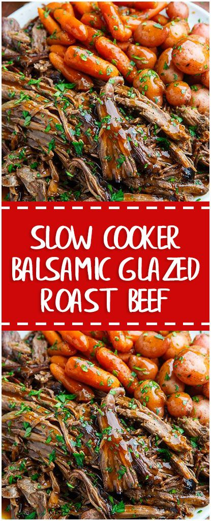 slow cooker balsamic glazed roast beef slowcooker whole30 foodlover homecooking cooking