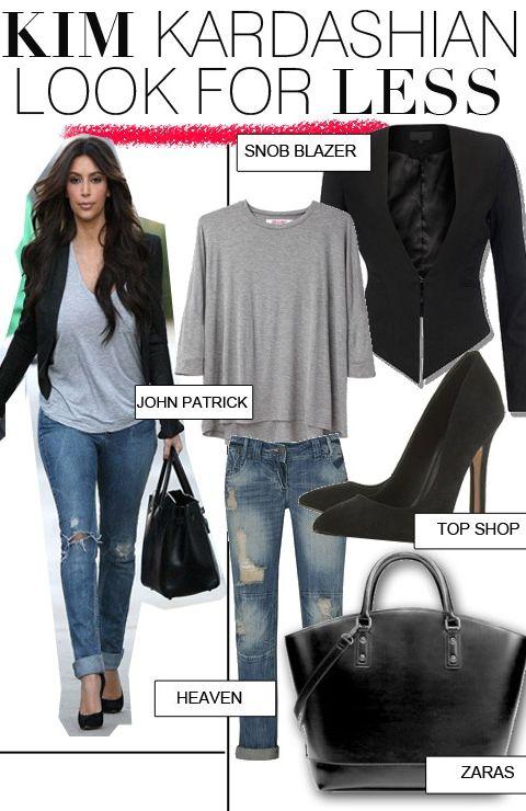 Get Kim Kardashian's Casual Look For Less | FashionBased | Fashion Based