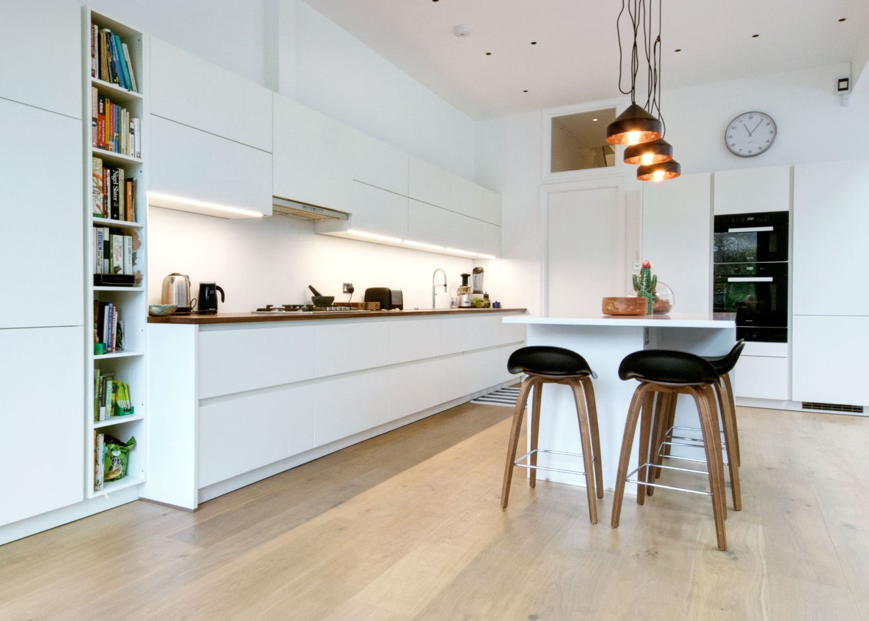 A White Matt Handleless German Kitchen In Willesden Green, London. The  Appliances Are Miele. This Is One Of Our Recent Projects.