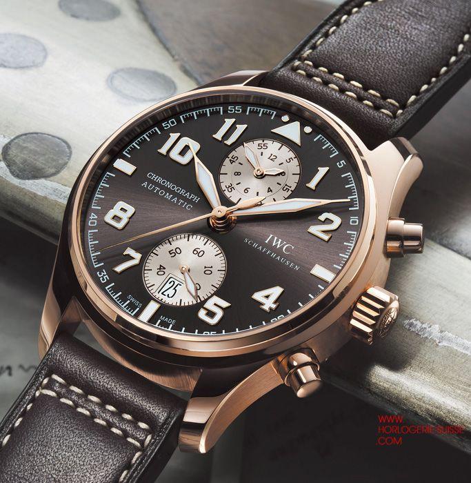 IWC Montre d'Aviateur Chronographe Edition Antoine de ...