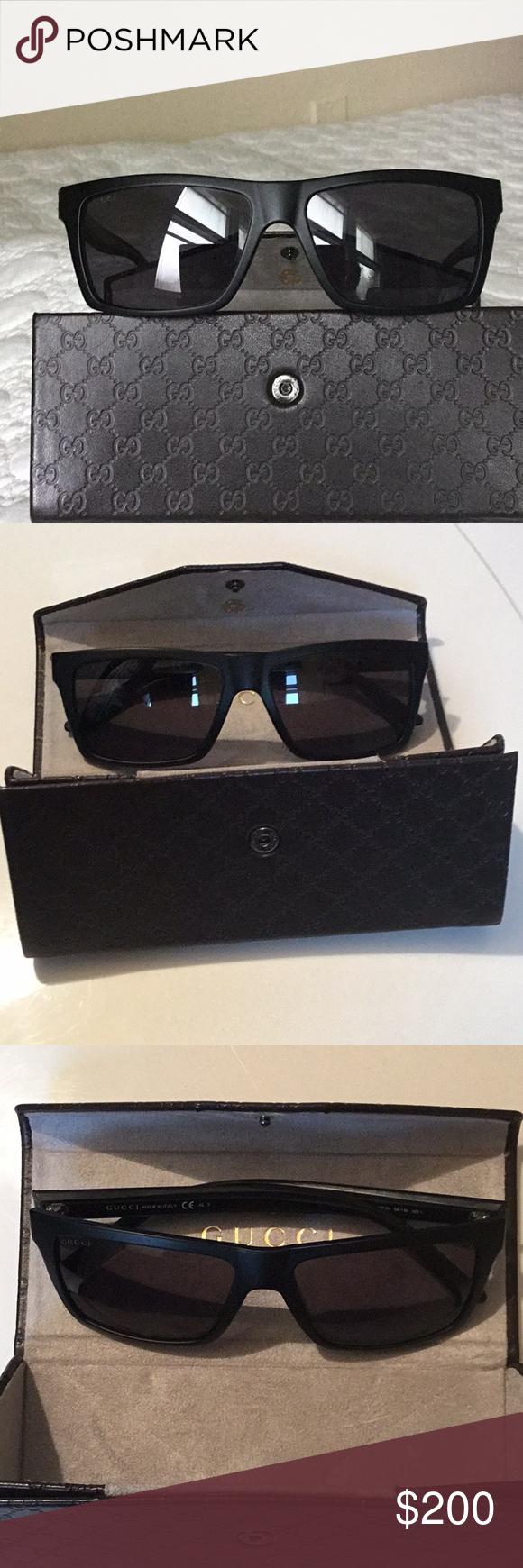 5d0139f2fd4 Gucci GG 1013 S 52R3H Sunglasses with GG Case Gucci GG 1013 S 52R3H Matte  Black Square Polarized Sunglasses with Gucci GG Leather Case Used very  gently.