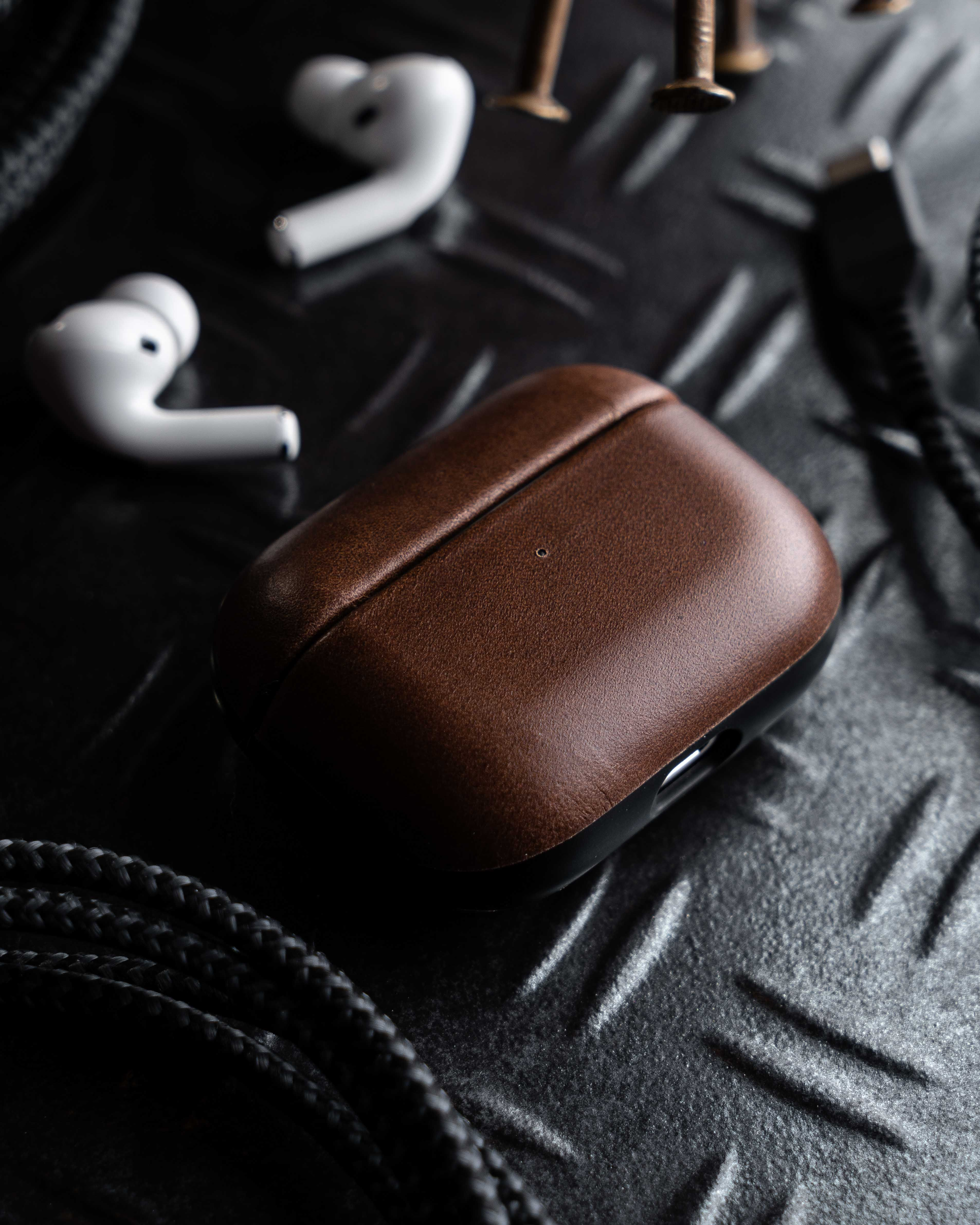 Rugged Leather Airpods Cases | NOMAD®