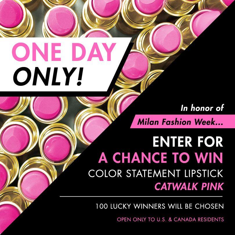 Catwalk pink giveaway statement lipstick milani color