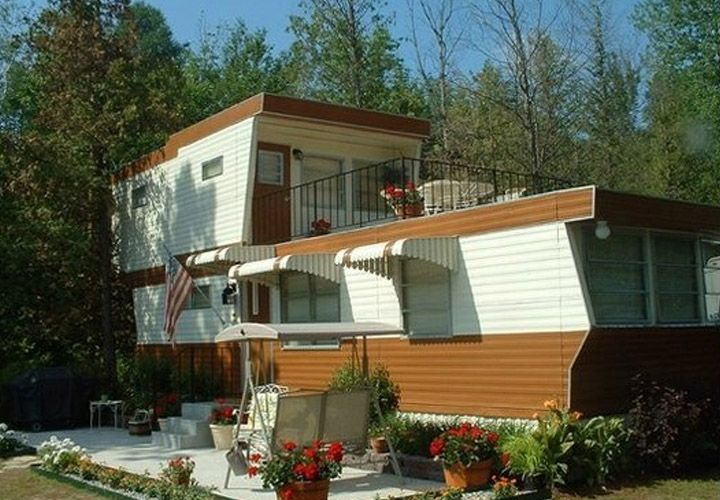 Phenomenal Vintage Mobile Homes From The 50S Mobile Homes Ideas Home Interior And Landscaping Palasignezvosmurscom