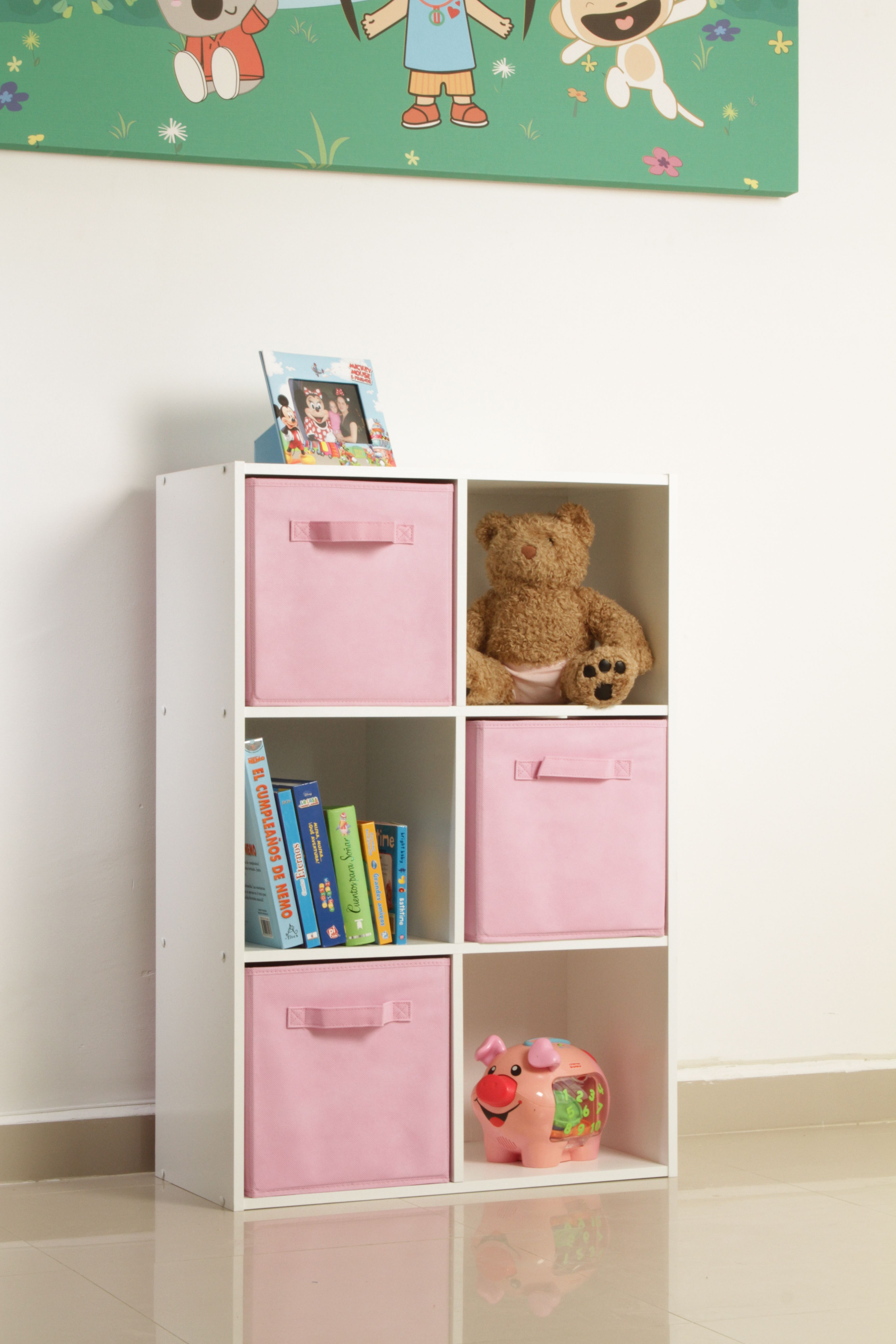 Organizador mel mina 6 cubos blanco room babies and for Muebles de melamina