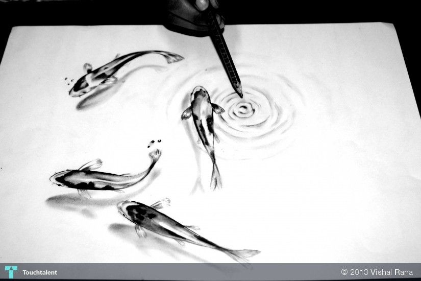 3d Sketching By Vishal Rana In Just For Fun At Touchtalent
