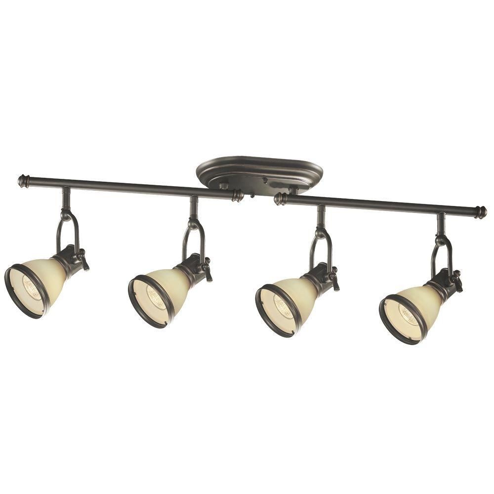 Hampton Bay Brookhaven Collection Oil Rubbed Bronze 4 Light