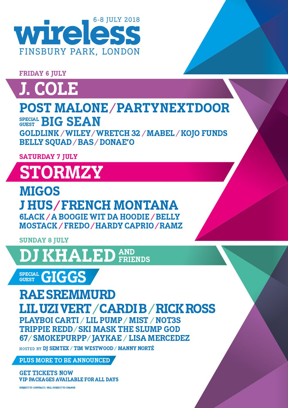 Image result for wireless music festival 2018 lineup