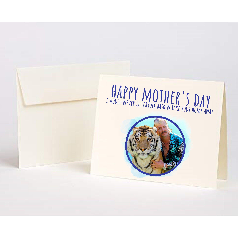 Quarantine birthday Card for her Pandemic birthday Tiger King Carole Baskin Funny birthday card Card him Card for friend
