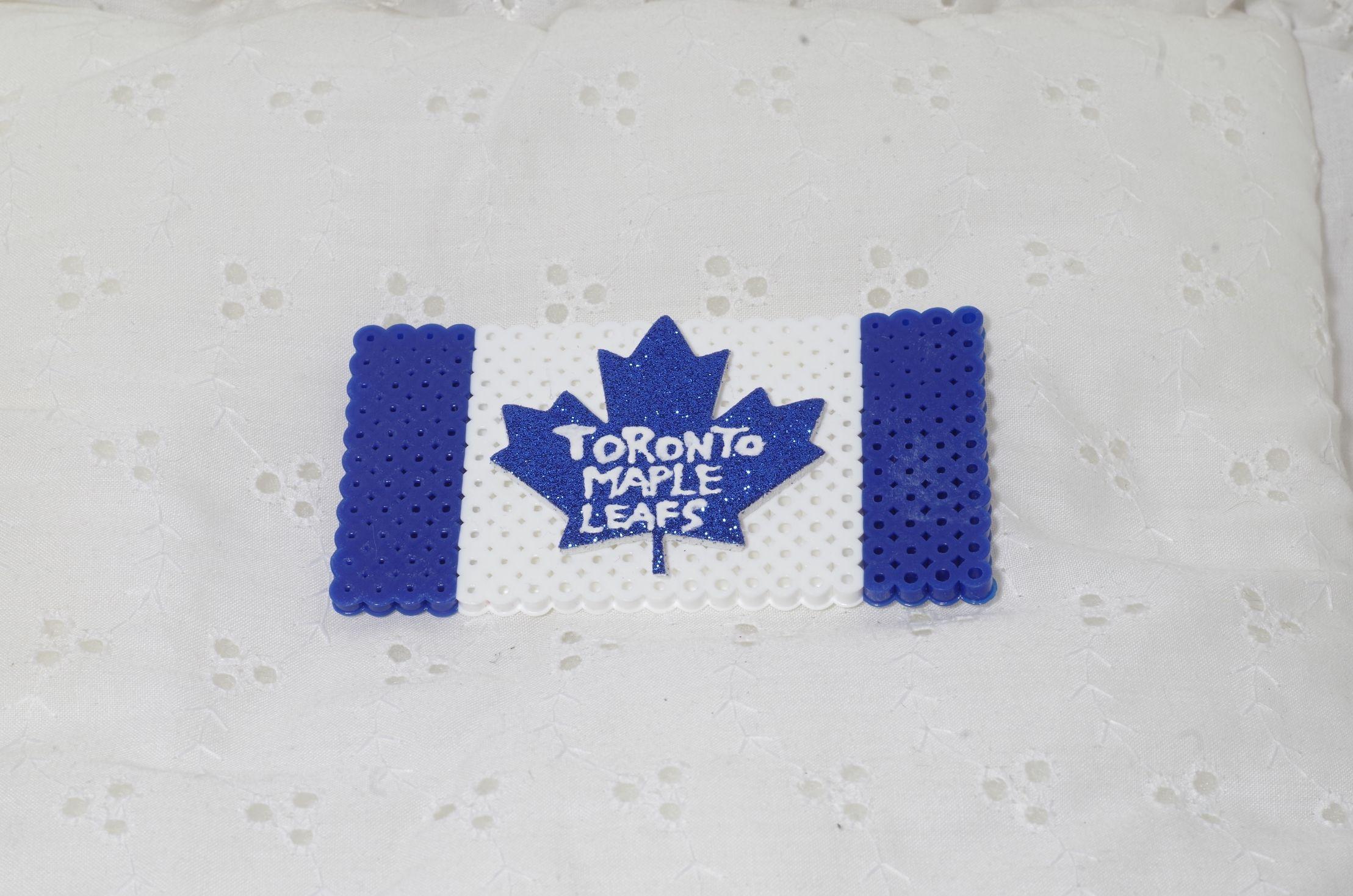 Toronto Maple Leaf Flag Perler Bead Magnet Cross Stitch Embroidery Maple Leaf Flag Perler Beads