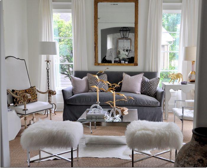 Ideas De Decoración Salon Gris Y Blanco, Sillas Modernas En Blanco,  Detalles Decorativos En