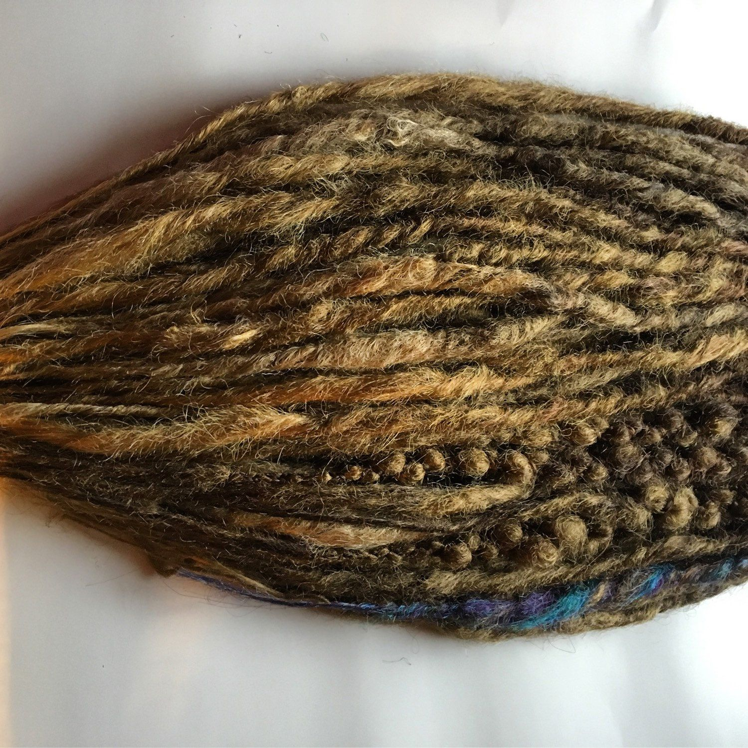 25 Se Single Ended Synthetic Dreads Ombre Dark Brown To Light Brown