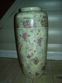 Ei urne/vase fra 70-tallet har fatt nytt liv. Flere bilder på bloggen.