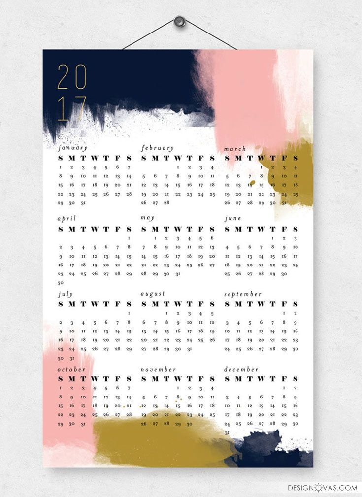 13 modern Wall Calendars to get you organized for 2017 | #calendar ...