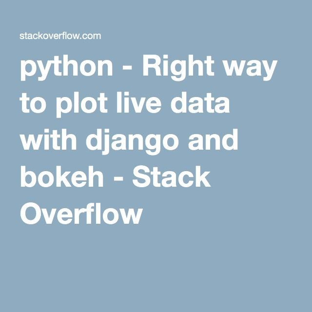 python - Right way to plot live data with django and bokeh