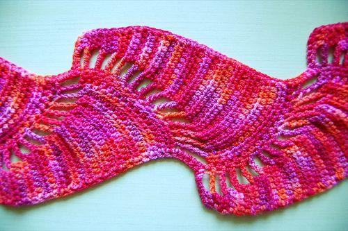 Free Crochet Pattern 60306AD Ripple Scarf : Lion Brand Yarn Company ...