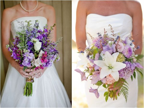 Love The Bouquet On Left Wildflower Wedding Bouquets With Roses And Lilies