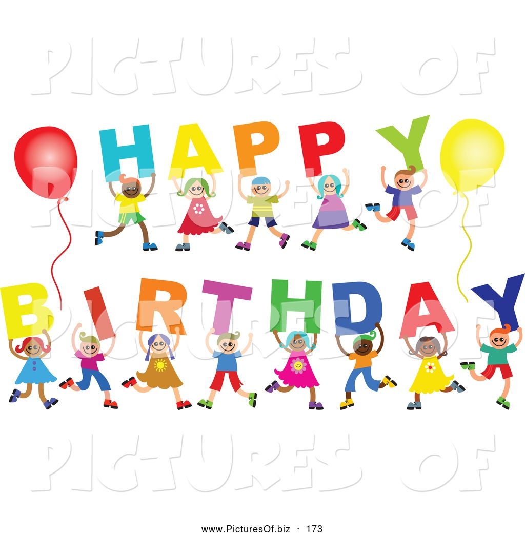 Female Happy Birthday Clip Art Free Vector Clipart Of A Diverse ...