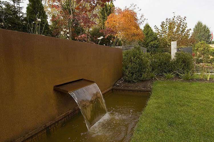 garten cortenstahl - Google-Suche Gartenbrunnen Pinterest