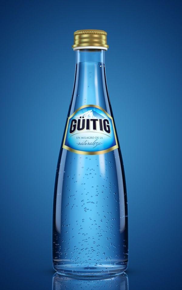 Guitig Ow Packshot On Behance Water Bottle Design Bottle Design