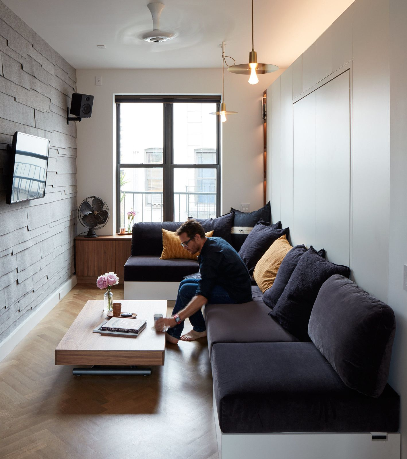 small space living in a soho apartment | condo interior