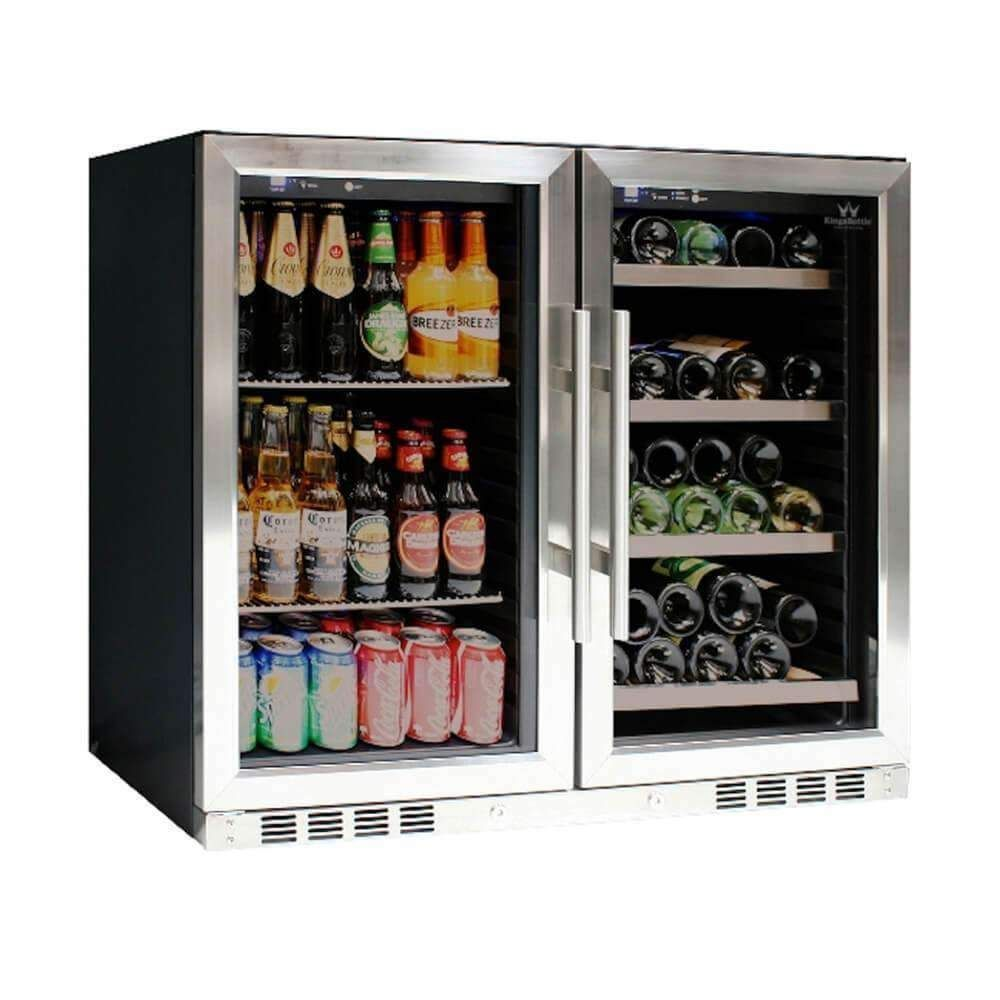 39 Inch Under Counter Wine And Beer Fridge Combo Wine And Beer Fridge Beer Fridge Wine Refrigerator