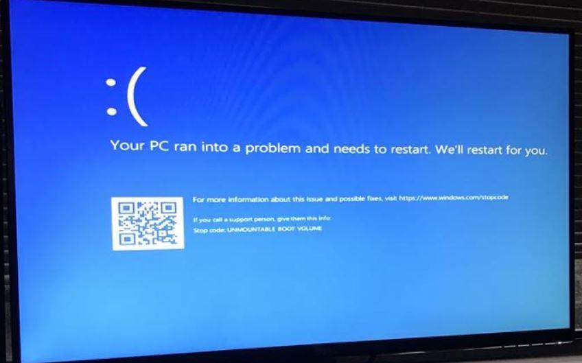Solved Windows 10 Unmountable Boot Volume Bsod Error 5 Working Solutions Windows 10 Bsod Windows