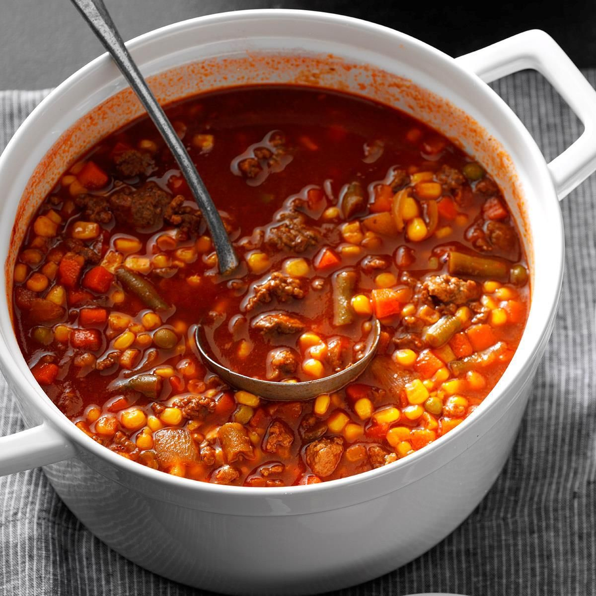 Quick Beef Vegetable Soup Recipe in 2020 Beef soup