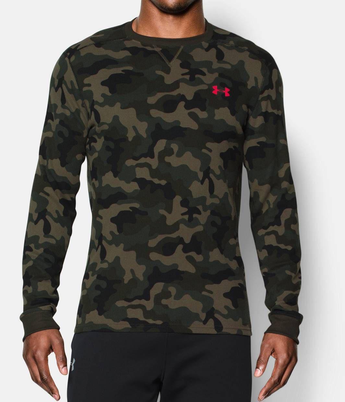 Men S Ua Amplify Camo Thermal Crew Under Armour Us Long Sleeve Tshirt Men Mens Tops Under Armour [ 1240 x 1064 Pixel ]