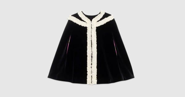 770db9254c4 Gucci Children s velvet cape with embroidery