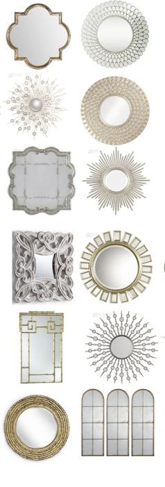 Different Shaped Mirrors mirrors!!! of all shapes and colors im craaaaaazy about mirrors