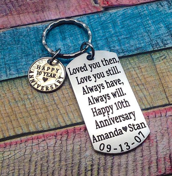 10th Wedding Anniversary Gifts: Anniversary Gift, Year Anniversary, Gift For Husband, 10th