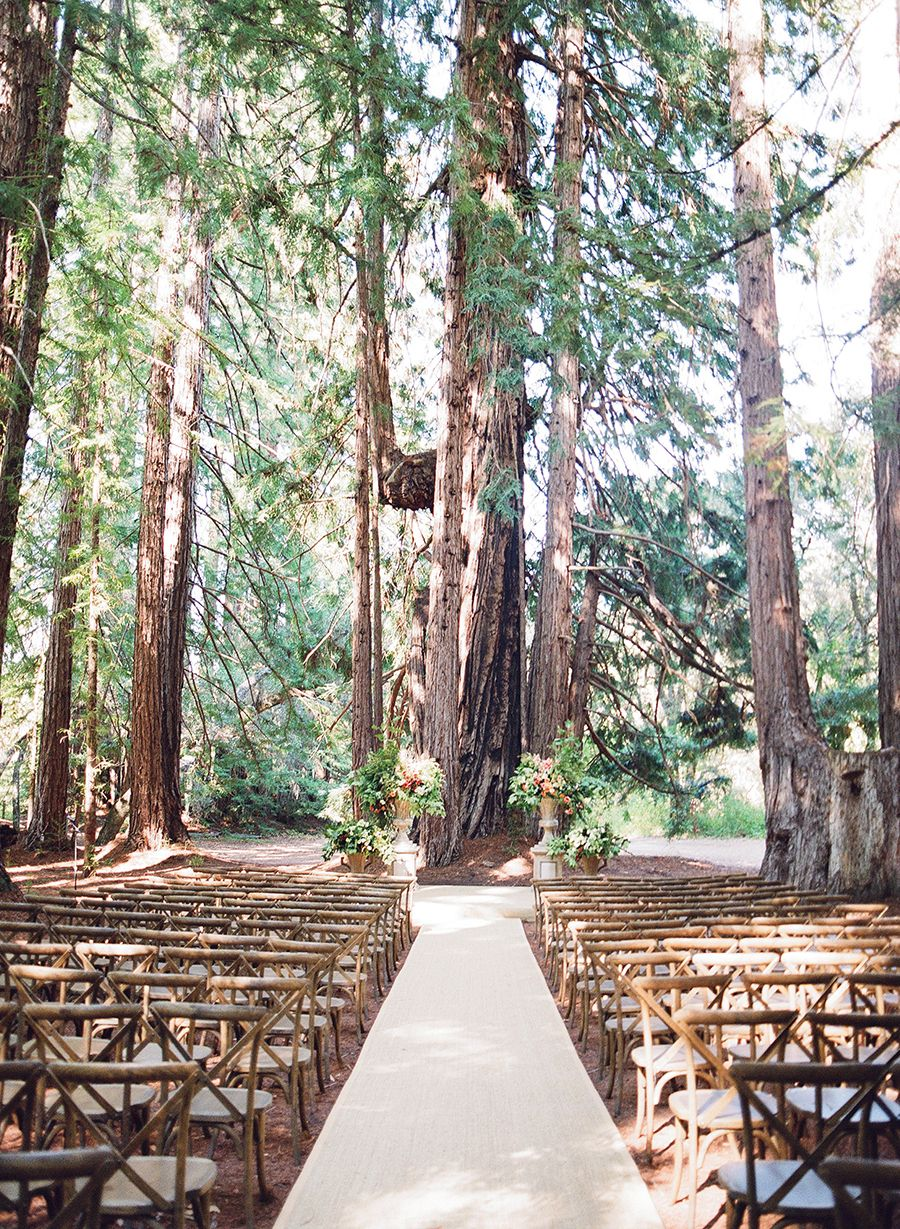 A Wedding In The Woods With Nods To The Bride S Equestrian Roots Forest Wedding Ceremony Rustic Wedding Venues Rustic Wedding Ceremony