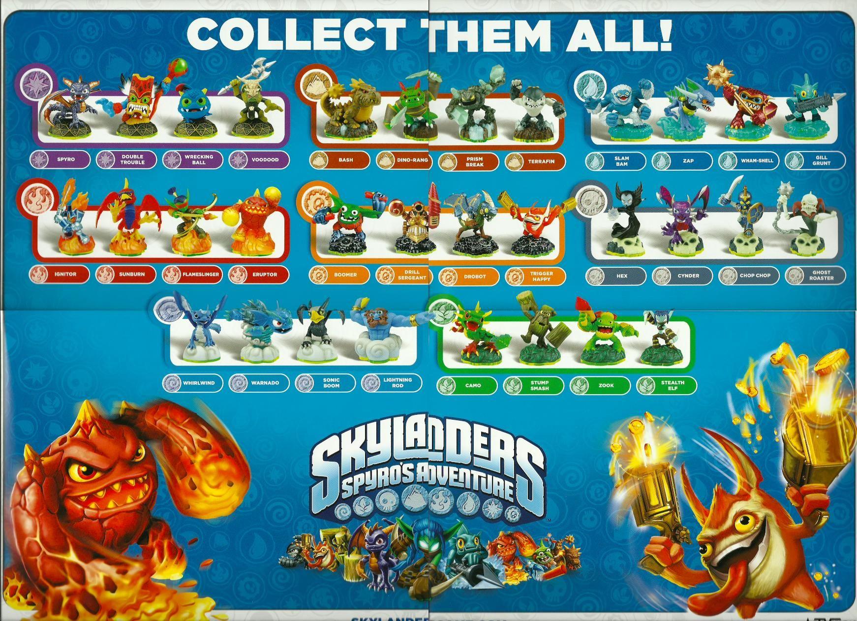 Water - Skylanders Character List