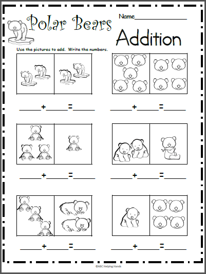 Polar Bears Addition Worksheet Made By Teachers Kindergarten Addition Worksheets Addition Worksheets Math Addition Worksheets