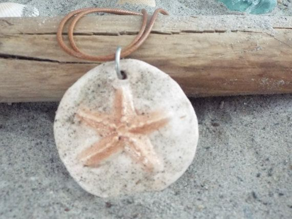 Sandy Starfish Necklace by TheRedCrab on Etsy