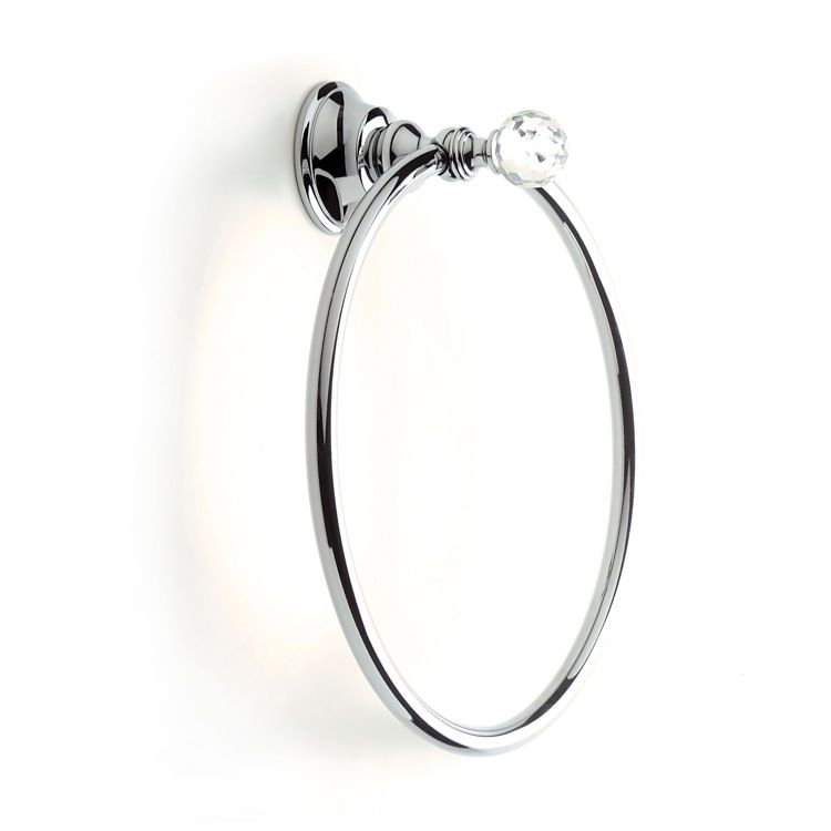Towel Ring, StilHaus SL07, Chrome or Gold Towel Ring with Crystal SL07