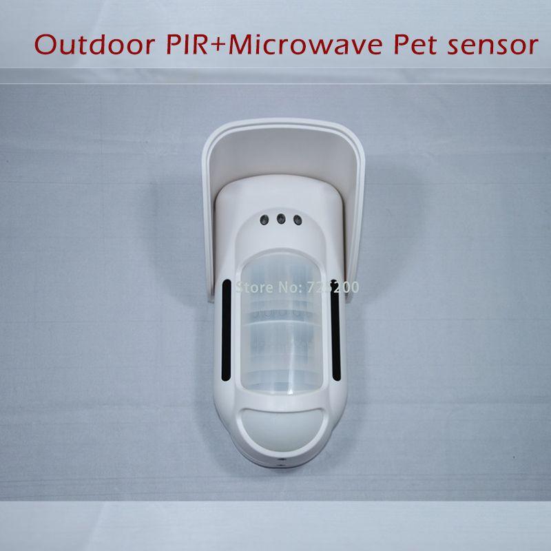 Ft 89r 868mhz External 2ch Microwave Dual Pir Motion Sensor Pet Immune Detector For Meian Alarm System
