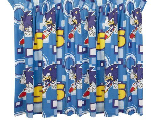 Character Uk Sonic The Hedgehog Curtains Set Sonic 168 X 183 Cm Curtains Curtain Sets Tempered Glass Screen Protector