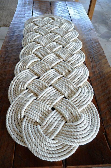 Nautical Rope Rug Large Bath Mat Off White 100 Cotton by OYKNOT 25000Crafts Nautical Rope Rug Large Bath Mat Off White 100 Cotton by OYKNOT 25000