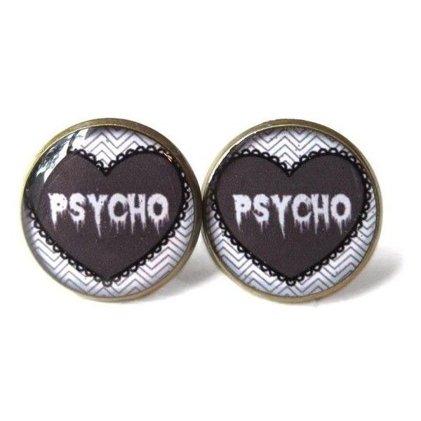 Grey Creepy Cute Drippy Psycho Stud Earrings, Pastel Goth Soft Grunge ❤ liked on Polyvore featuring jewelry, earrings, pastel jewelry, stud earrings, grey earrings, grunge jewelry and gray earrings