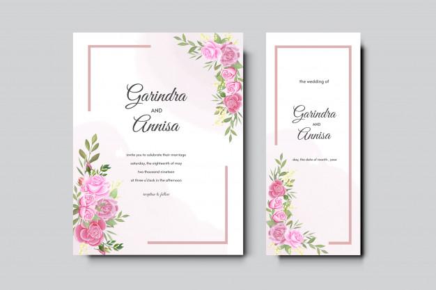 Elegant Watercolor Wedding Invitation Card Template Design Wedding Invitation Cards Wedding Invitation Card Template Elegant Wedding Invitation Card