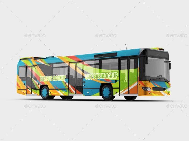 12 Best Bus Mockup Psd For Bus Advertising Bus Advertising Bus Wrap Bus