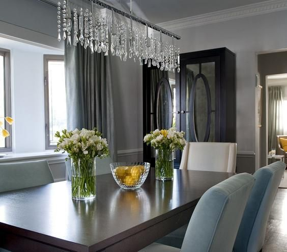 Unique Chandeliers Dining Room: Accessorized Elegant Ideas Dining Rooms Real Simple Dining