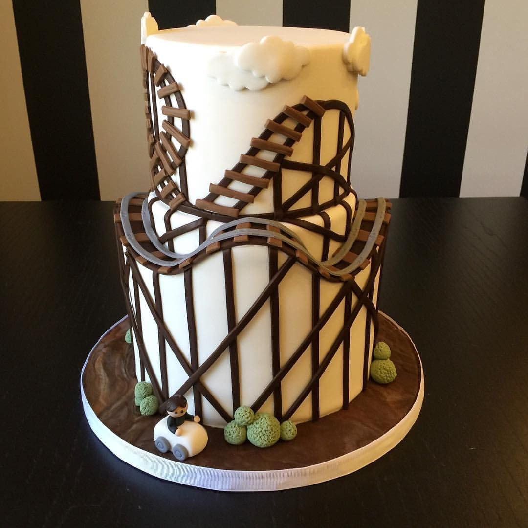 Instagram Photo By Elegant Temptations Inc Apr 20 2016 At 2 08pm Utc Roller Coaster Cake Cake Fondant Roller