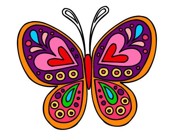 dibujo de mandala mariposa dibujos para pintar pinte