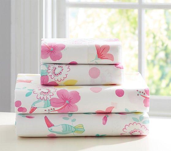 Isla Surf Sheet Set Kids Bed Sheets Pink Bedding Quilt