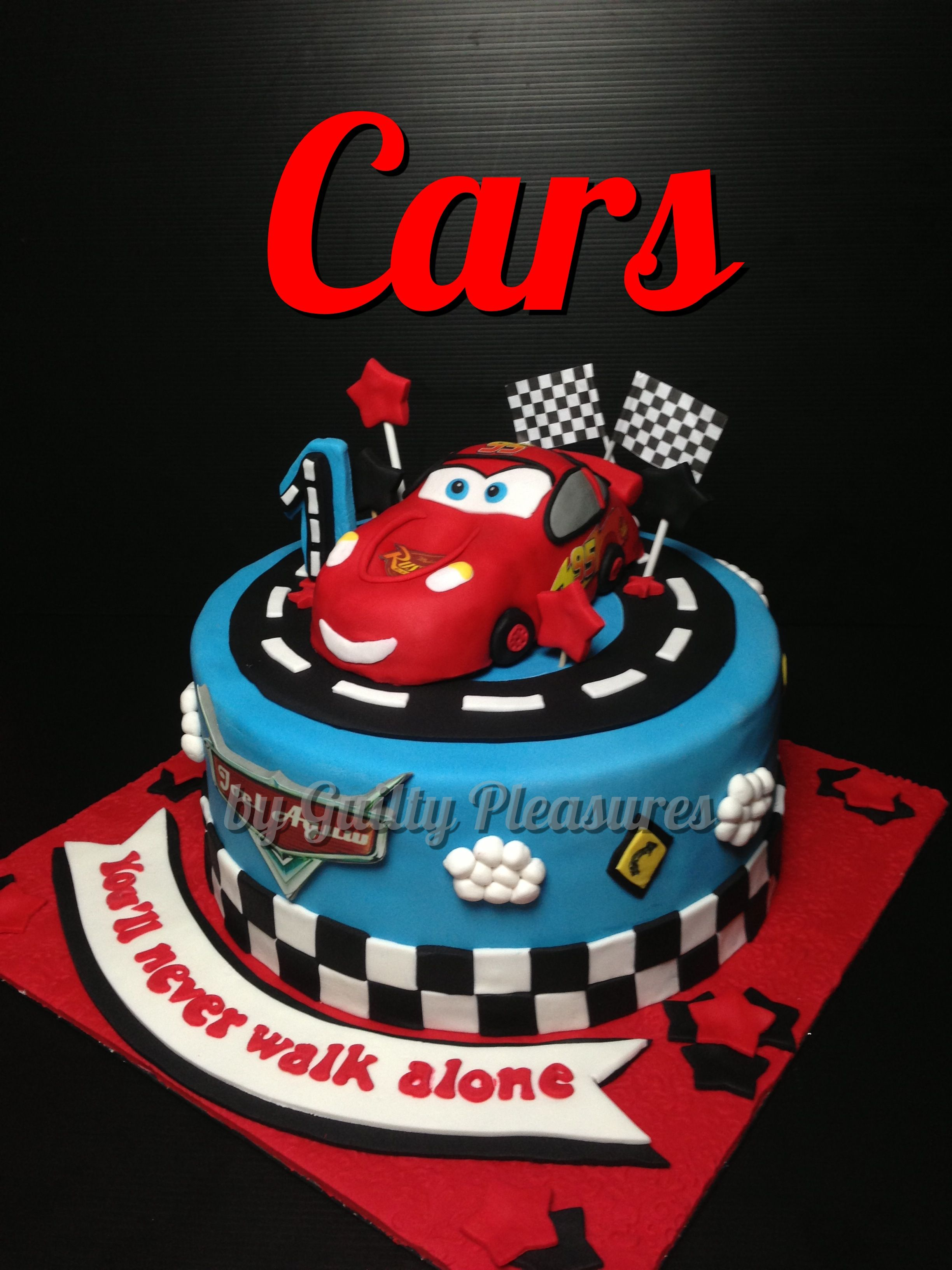 Lightning Mcqueen Cake Fondant Cakes Pinterest