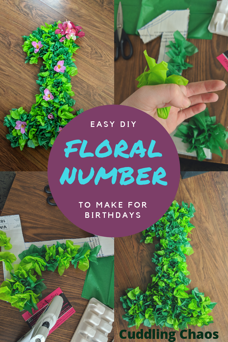 'Moana' first birthday party: diy floral number