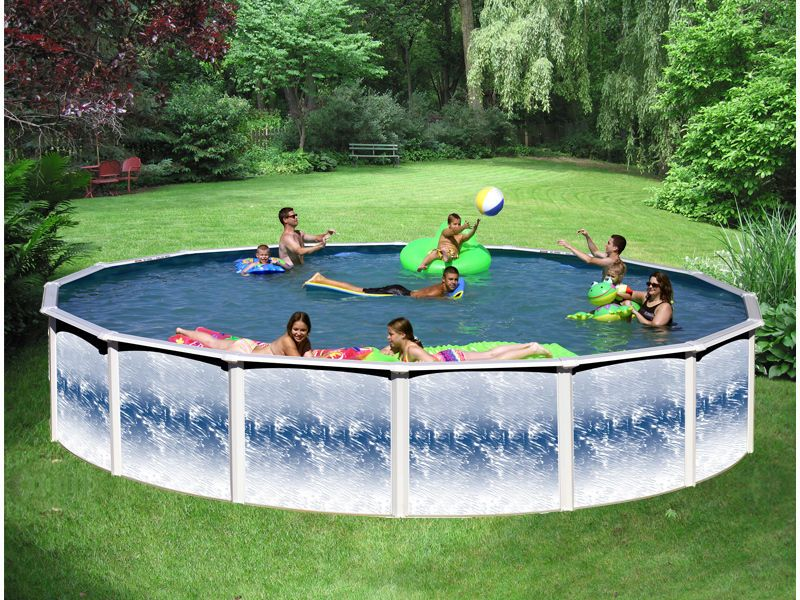 Above Ground Pools 116405 12 X 52 Above Ground Pool Package 20 Yr Warranty Yorkshire Blue Buy It Now Only 999 In Ground Pools Above Ground Pool Pool
